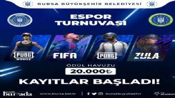 Bursa Büyükşehir Belediyesi'nden e-spor turnuvası