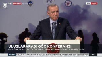 Cumhurbaşkanı Erdoğan, Dokuz Eylül Üniversitesi'ndeki konferansta konuşuyor