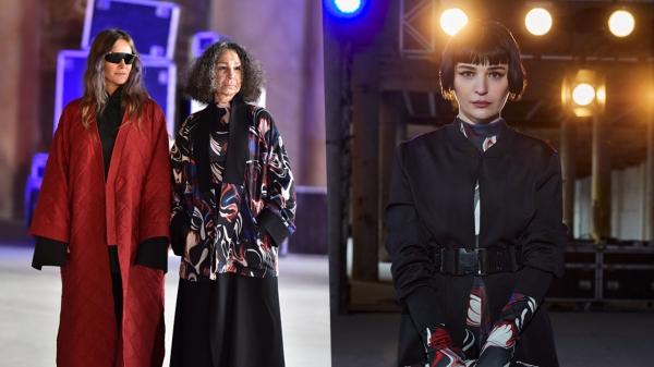 Fashion Week'te ünlü oyuncuları buluşturan defile