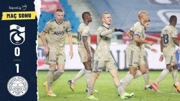 Fenerbahçe, Trabzon'dan 3 puan ile ayrıldı