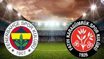 Fenerbahçe- Karagümrük maçı ilk 11'ler