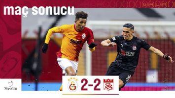 Galatasaray evinde Sivasspor ile berabere kaldı