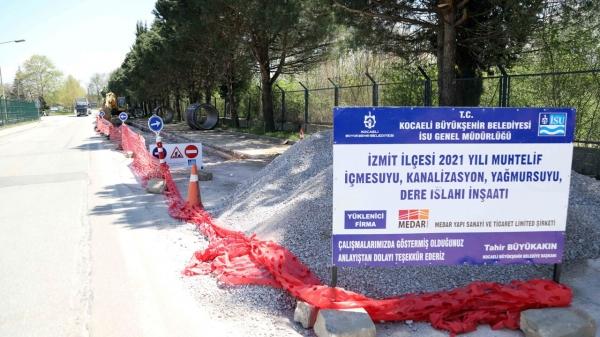 Kocaeli İzmit'te 13 mahallede altyapı çalışmaları başladı