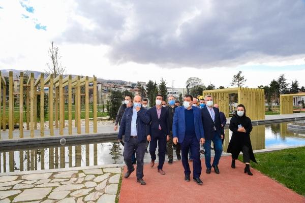 Malatya Millet Bahçesi'ne yerinde inceleme