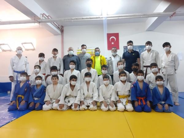 Mardin'de judo kuşak sınavı yapıldı