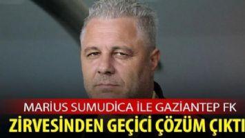 Marius Sumudica ile Gaziantep FK zirvesinden geçici çözüm çıktı
