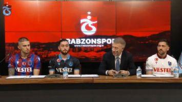Trabzonspor, yeni yıldızları için imza töreni düzenledi